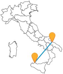 Viaggiare in pullman tra Bari e Palermo sarà economico e sicuro