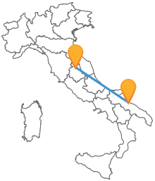 Acquista un biglietto del bus tra Bari e Perugia