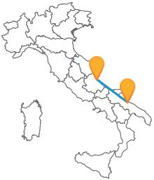 Ammirate il panorama dell'Adriatico mentre siete in viaggio sul pullman da Bari a Pescara