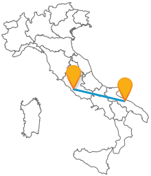 Acquistate un biglietto low cost per l'autobus da Bari a Roma