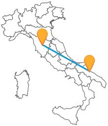 Percorrete il suggestivo itinerario tra Puglia e Toscana con un autobus da Bari a Siena