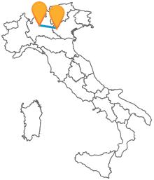 In viaggio nel Nord Italia con un autobus da Bergamo a Verona
