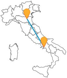 Preparatevi ad un rilassante viaggio in autobus tra Bologna e Napoli