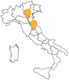 Controllate gli orari e partite con un bus da Bologna a Perugia