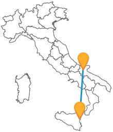 Visita il Sud Italia con un autobus tra Catania e Foggia