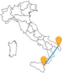 Dalle coste siciliane a quelle pugliesi viaggiando con un autobus tra Catania e Lecce