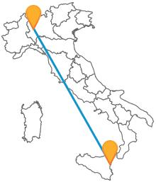 Acquistate ora il vostro biglietto per il bus da Catania a Milano