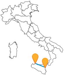 Visitate le due più grandi città siciliane con un autobus da Catania a Palermo