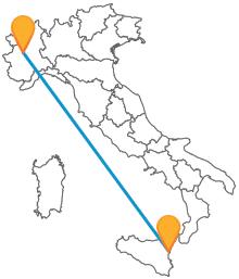 Attraversate l'Italia senza sforzi con il pullman da Catania a Torino