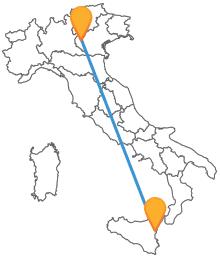 Preparatevi ad affronatre un viaggio lungo l'Italia con l'autobus da Catania a Verona