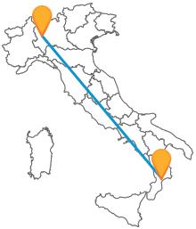 Con l'autobus da Catanzaro a Milano viaggerete comodamente tra Calabira e Lombardia