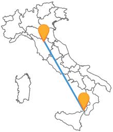 Viaggia dalla Toscana alla Sicilia con l'autobus tra Firenze e Messina