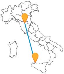 Scoprite due realtà della storia italiana dopo aver viaggiato in autobus tra Firenze e Palermo