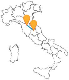 Scegliete l'autobus tra Firenze e Perugia per i vostri spostamenti tra Toscana e Umbria