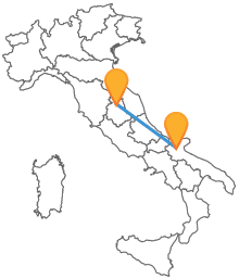 Viaggia in maniera economica con il bus tra Foggia e Perugia