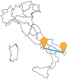 Viaggiate tra Salento e Campania con un pullman tra Gallipoli e Napoli