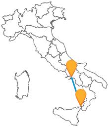 Viaggiare tra la Sicilia e la Campania? Facile, con gli autobus da Messina a Napoli
