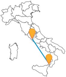 Viaggiare in bus sarà più economico con i pullman da Messina a Roma