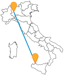 Attraversate l'Italia risparmiando con un economico autobus tra Milano e Palermo