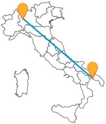 Prenotate un biglietto per il pullman tra Milano e Taranto e viaggiate in bus lungo l'Italia