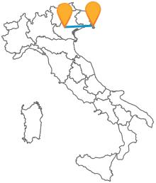 Provate a viaggiare in autobus tra Milano e Trieste verso i confini nazionali