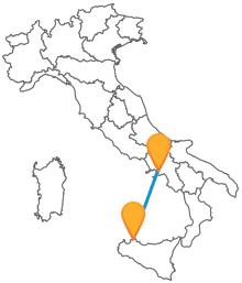 Acquistate un biglietto del pullman tra Napoli e Palermo, le due città più famose del Sud Italia