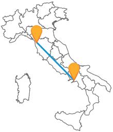 Muoversi lungo la costa tirrenica cn l'autobus da Napoli a Pisa è sempre più facile