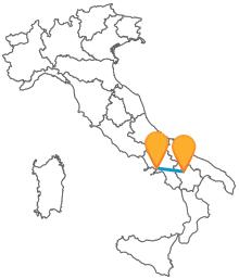 Approfittate dei pullman tra Napoli e Potenza per viaggiare economicamente tra le due regioni del sud