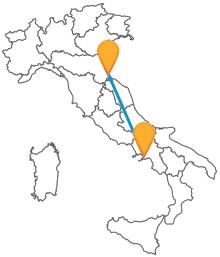Prendete il bus da Napoli a Rimini e visitate due località di mare davvero uniche