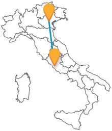 Lasciatevi guidare dall'autobus tra Padova e Roma verso nuove scoperte