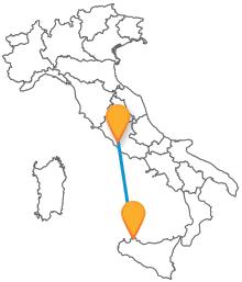 Un viaggio lungo il Sud Italia con gli autobus da Palermo a Roma