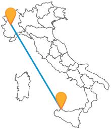 Viaggiare in autobus dalla Sicilia al Piemonte è semplice, con il pullman da Palermo a Torino