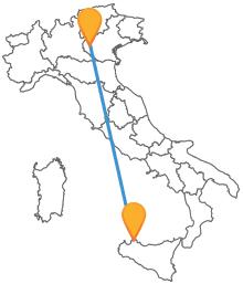 Preparatevi a viaggiare lungo tutta la penisola con l'autobus da Palermo a Verona