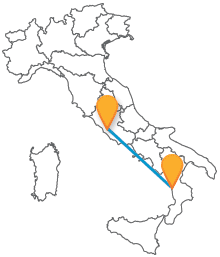 Raggiungere la Calabria velocemente e risparmiando col pullman da Paola a Roma