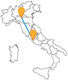 Prendere l'autobus da Parma a Roma senza problemi