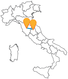Provate a viaggiare tra due affascinanti città con l'autobus da Perugia a Siena