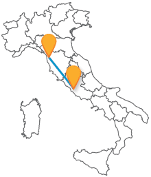 Visitate Toscana e Lazio con un autobus tra Pisa e Roma