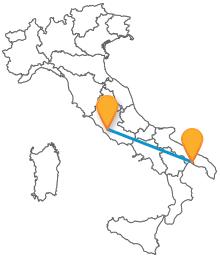 In viaggio verso la Puglia con un bus da Roma a Taranto