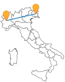 Viaggiate nel Nord Italia con un autobus tra Torino e Udine