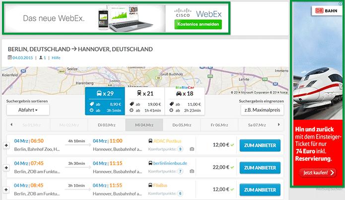 Werbeplätze auf busliniensuche.de