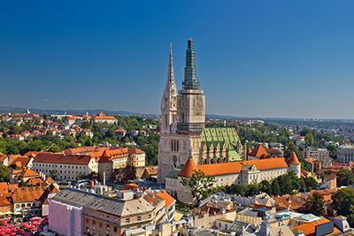 Immagine di Zagabria vista dall'alto